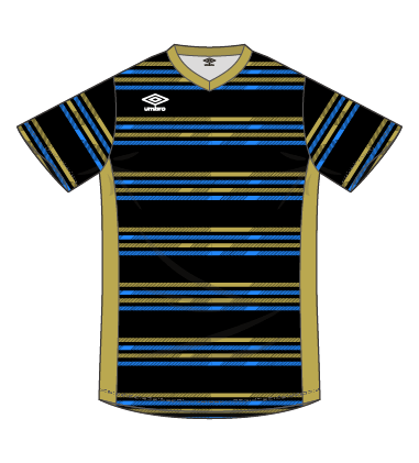 umbro LIGHT COMPO+ borderゲームシャツ