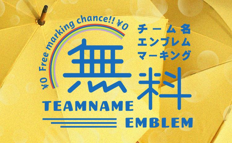 チーム名・エンブレム無料キャンペーン