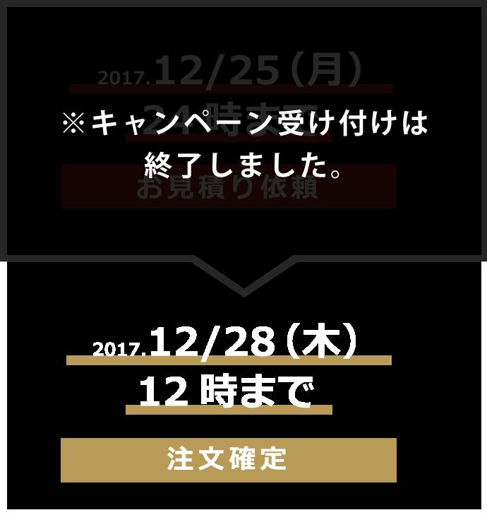 キャンペーン期間 12月25日までに見積り依頼 mobile