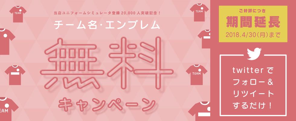 チーム名無料キャンペン campaign