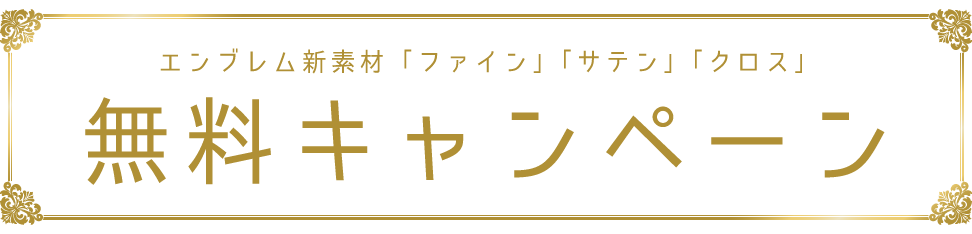 エンブレム新素材キャンペーン