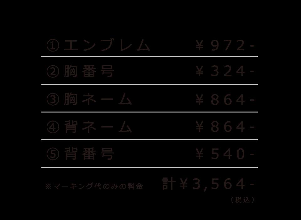 マーキング例価格