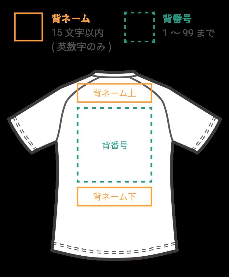 new balance マーキング箇所 ゲームシャツ 背中