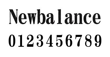 new balance フォント 1