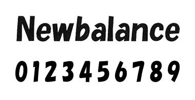 new balance フォント 2