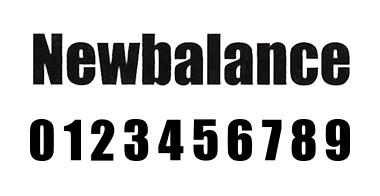 new balance フォント 4
