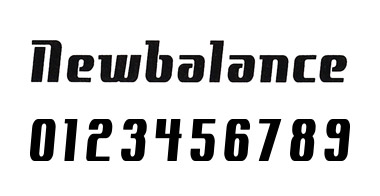 new balance フォント 5
