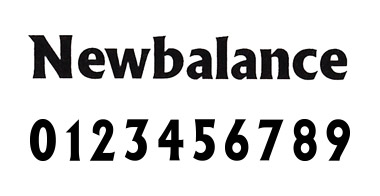 new balance フォント 8
