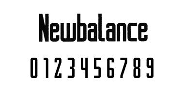 new balance フォント 9