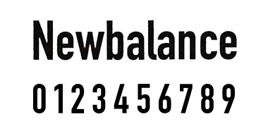 new balance フォント 10