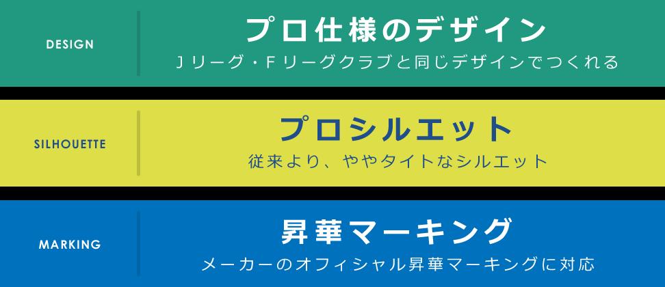3つの特徴 デザイン シルエット 昇華
